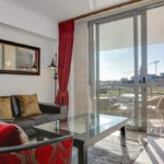 Canal Quays 205 - Living room and balcony
