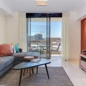 Canal Quays 507 - Living area and view