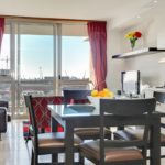 Canal Quays 603 - Dining table and view