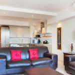Canal Quays 706 - Living area and kitchen