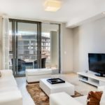 Canal Quays 506 - Living area and TV