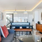 Solis 402 - Living and dining area