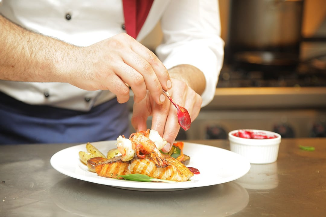 Private chef is one of the additional extras on a booking