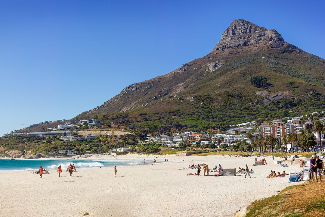Camps Bay is one of the most popular beaches in Cape Town