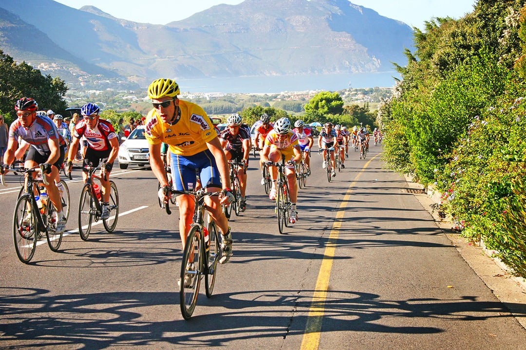 Cyclists participating in the Cape Town Cycle Tour
