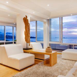 The Heron - Living room views