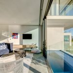Coral Sea - Living Room Pool View